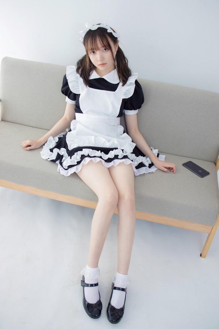 森萝财团写真 JKFUN-百元系列2-2《蕾丝花边短袜女仆》Aika [32P/1V/2.05G] JKFUN-第1张
